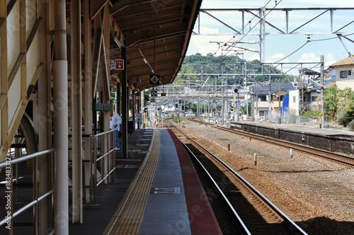 Tuinposter Spoorlijn Railroad tracks
