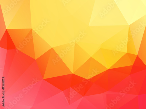 yellow pink abstract triangular background