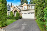 Beautiful curb appeal of Craftsman-inspired exterior - 183488196