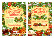 Christmas holiday food poster with dinner dish - 183490358