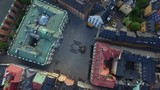 Aerial of Stortorget, old town. Gamla Stan. Popular tourist attraction in Stockholm, Sweden - 183491584