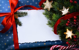 art  Christmas presents under Christmas tree decoration - 183491908