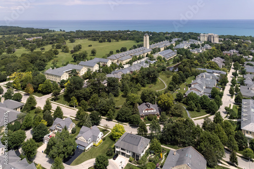 Papiers peints Chicago Ft. Sheridan Aerial View 16