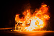 Quadro Burning truck on the highway