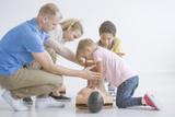 Paramedic teaching children - 183497524