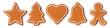 Leinwandbild Motiv Set of christmas cookies - star - christmas tree - heart - bell - gingerbread man
