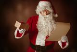 Portrait of Man in Santa Claus Costume - 183502345