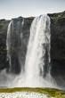 Vertical landscape of Seljalandfoss waterfall - 183504129