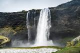 Natural wild landscape of Seljalandfoss, Iceland