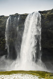 Vertical landscape of Seljalandfoss waterfall