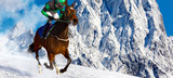 Gallop in the Snowy Alps - 183504906