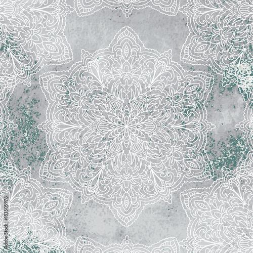 Mandala on watercolor background - 183505978