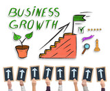 Business growth concept on a whiteboard - 183510367