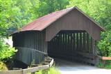 A covered bridge in New Hampshire. - 183511916