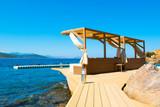 Chill lounge zone on the sandy beach, Maldives island - 183513592