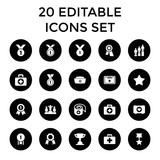 First icons. set of 20 editable filled first icons - 183514904