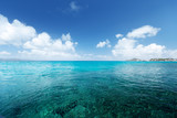 perfect sky and tropical ocean - 183518936