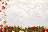 Navidad fondo nieve árbol  - 183521158