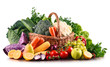 Composition with variety of raw organic vegetables and fruits - 183523528