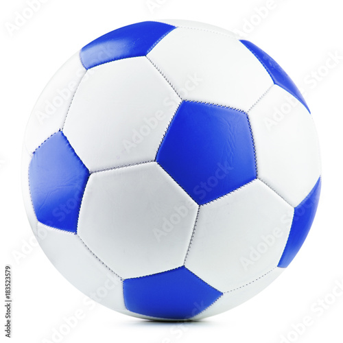 Foto op Aluminium Bol Leather soccer ball isolated on white background