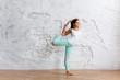 Beautiful young woman doing yoga