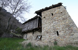 abandoned stable in northern Italy in the place called CARNIA ne - 183527325