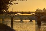 Sunrise over the Pont des Arts, Pont Neuf and the Seine River banks. Ile de la Cite, 1st Arrondissement, Paris, France - 183528955