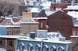 Quebec City rooftops with snow