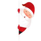 Santa Claus - blank sign - 183531738