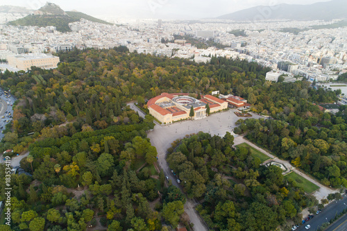 Papiers peints Athenes aerial view of Zappeion in Athens and modern part of the city