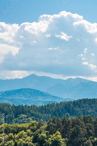 Foto op Canvas Blauw Paisagem na Transilvânia