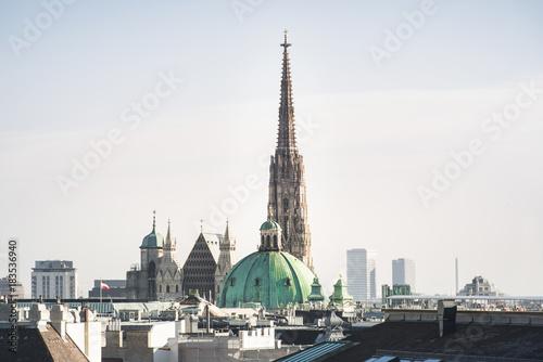 Fotobehang Wenen Blick auf den Stephansdom in Wien