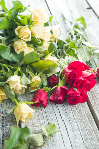 Flowers of roses.