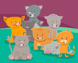 cute cat or kitten characters group - 183542327