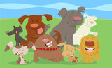 cartoon dogs or puppies group - 183542336