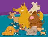 dogs and puppies cartoon animals group - 183542345