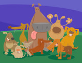 dogs and puppies cartoon characters group - 183542358