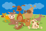 dogs and puppies cartoon characters - 183542363