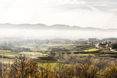Staande foto Wit nature rural landscape