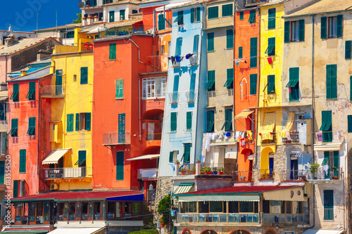Foto op Aluminium Liguria Colorful picturesque houses in harbour of Porto Venere, La Spezia, Liguria, Italy.