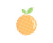 Halftone Fruit Icon Logo Design Element - 183566157