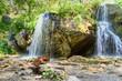 Waterfalls Che-Chkysh, Yelanda. Altai Republic, Russia - 183570722