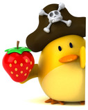 Yellow bird - 3D Illustration - 183573929