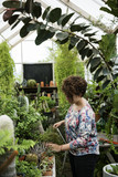 Woman working in a garden shop - 183575711