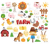 Farm Animal Vector Set - 183585301