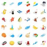 Tourism icons set, isometric style - 183588330