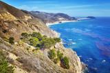Coastline along the Pacific Coast Highway, California, USA. - 183592708