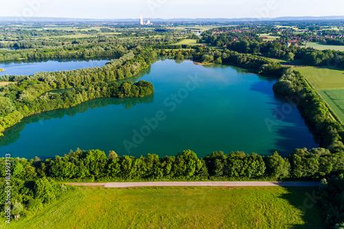 Poster Groen blauw Baggersee in Norddeutschland