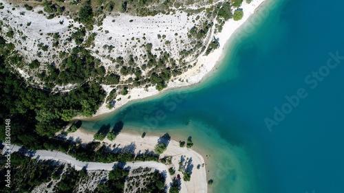 Plexiglas Groen blauw France Provence Verdon Lac de Sainte Croix vue du ciel