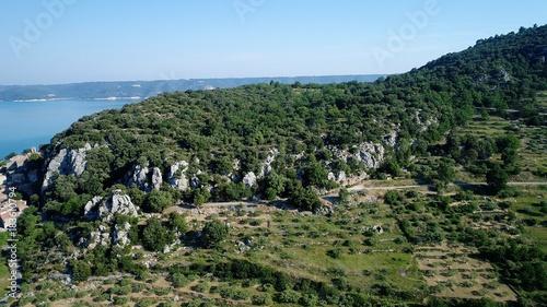 Papiers peints Bleu ciel France Provence Verdon Lac de Sainte Croix vue du ciel